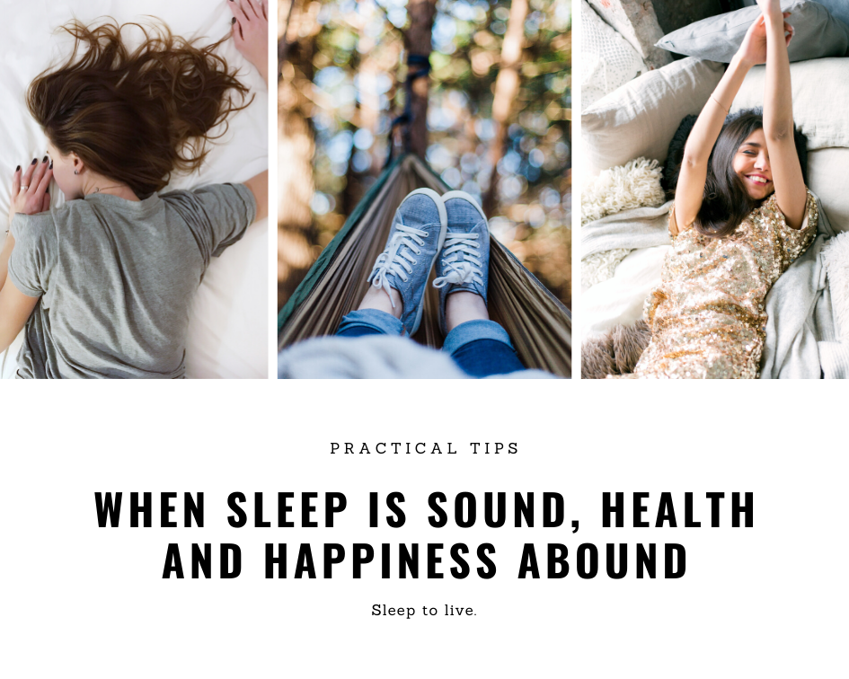 When Sleep is sound, health and happiness abound